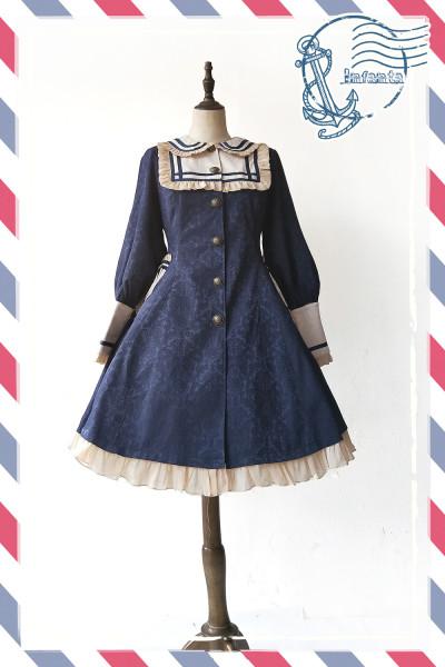 Infanta*St. Lily* Preppy Style Dark Grain Dust Coat