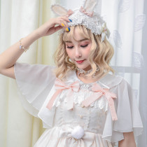 Round Neck Bow Batwing Sleeve Lolita inner Blouse
