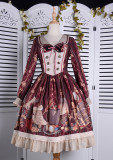The traveler*Printing Sweet Lolita OP Dress