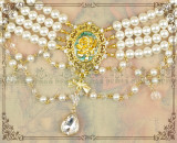 The roses in the mirror~Luxuriant Multilayer Pearl Lolita Choker for Tea Party