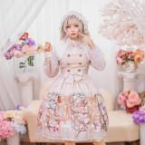 Chickadee Series Printing Sweet Lolita OP Dress