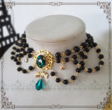 Manor ball I ~Luxuriant Multilayer Pearl Lolita Choker for Tea Party