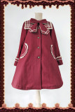 Infanta*New Navy  Collar Preppy Style Coat In Stock