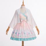 Rabbit*Chinese  Style Lolita Jsk+cape/Two-piece dress