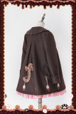 Infanta*Chocolate Fork Spoon*Embroidered and Velvet Overcoat In Stock