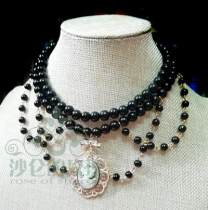 Manor ball II ~Luxuriant Doublelayer Pearl Lolita Choker for Tea Party