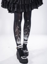 Reina*Bat Cross Printing  Lolita Tights