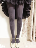 Reina~Miss Lace Hot Stamping  Lolita Tights
