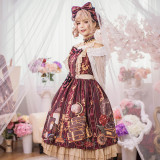The traveler*Printing Sweet Lolita JSK Dress