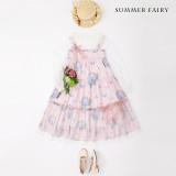 Hydrangea~Printing Sweet Lolita JSK Dress