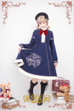 Strawberry Witch~The Bear Embroidery Woolen Coat