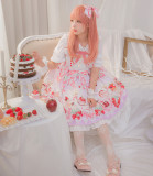 Strawberry festival~Printing Lolita Jsk Dress