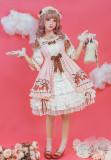 Strawberry chiffon~Printing Lolita OP Dress