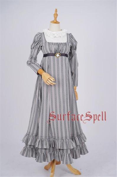 Jane Bennett~ Roll Collar Stripes Vintage Dress