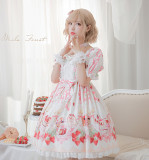 Strawberry festival~Printing Lolita OP Dress