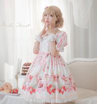 Strawberry festival~Printing Lolita OP Dress