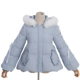 White Duck Down  Warm Fox Collars Lovely Short Jacket
