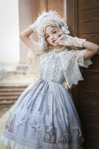 Piano music of the wind~Daliy Elegant Lolita Jumper Skirt