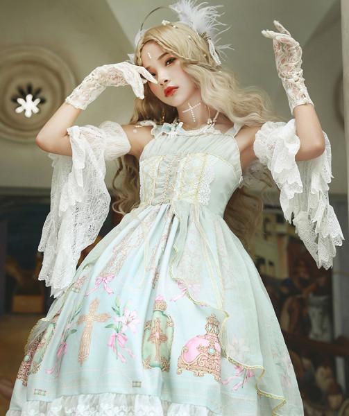Piano music of the wind~Daliy Elegant Lolita Jumper Skirt/Cape