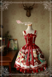 Sweet Christmas~Printing Classic Lolita  Jsk dress