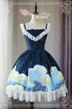 The starry sky~Pringting Sweet Lolita Jsk Dress