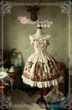 The squirrel couple~Pringting Sweet Lolita Jumper Dress