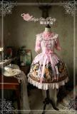 The squirrel couple~Pringting Sweet Lolita Jumper Dress