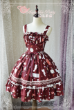 Sunny days and delicious food~Printing Sweet Lolita Jsk Dress Version Ⅰ