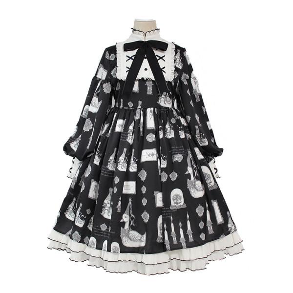 Alice girl~Duck Printing Lolita OP Dress Pre-order