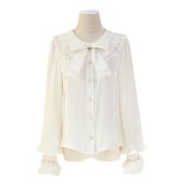 Alice girl~Lapel lace flounce bow lolita shirt/blouse