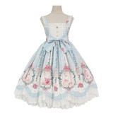 Alice girl~Caged dream Printing Lolita JSK Dress