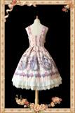 Flower elves~Printing Daily Sweet Lolita JSK Dress