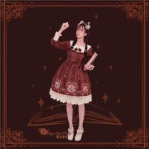 Bedtime book~Printing Sweet Lolita OP Dress for Winter