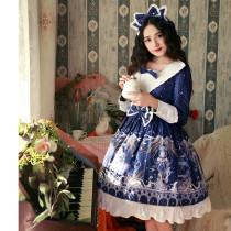 City of the starry sky~Printing Lolita OP Dress