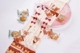 【MuFish】Spoon Chocolate Cream Print Velvet Lolita Tights