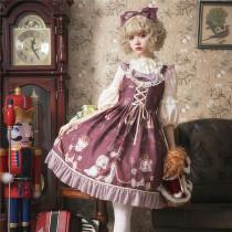 Coronation bear~Printing Lolita JSK Dress Verison Ⅱ