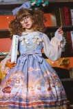 Astrology bear~Printing Lolita JSK Dress