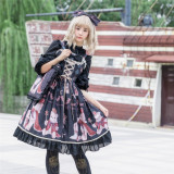 Coronation bear~Printing Lolita JSK Dress Verison Ⅱ