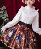 The heart of a mech~Printing Daily Lolita Skirt