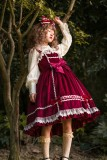 Honey silk sugar~Pure color velvet Lolita JSK Dress
