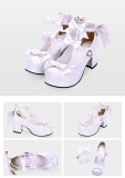【 Angelic imprint】Thick heel and round head Lolita shoe for tea party