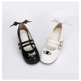 【 Angelic imprint】Devil angel eyes and wings decoration Lolita shoe