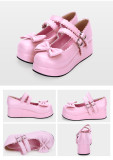【 Angelic imprint】Lolita Butterfly platform shoes with double straps