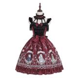 Rose knight~Printing Daily Lolita Jsk Dress