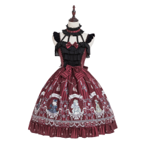 Rose knight~Printing Daily Lolita Jsk Dress