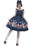 Handmade girl's hat shop~Printing Daily Lolita Jsk Dress