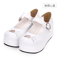 【 Angelic imprint】Heart-shaped Kitty embroidery Lolita Shoe