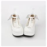 【 Angelic imprint】Cross devil angel wings Lolita Platform shoe