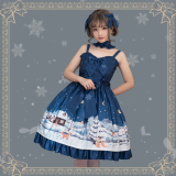 Little fox buy gloves~Printing Daily Lolita Jsk Dress