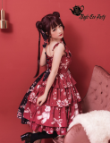 Chocolate bunnies~Printing Daily Lolita Jsk Dress